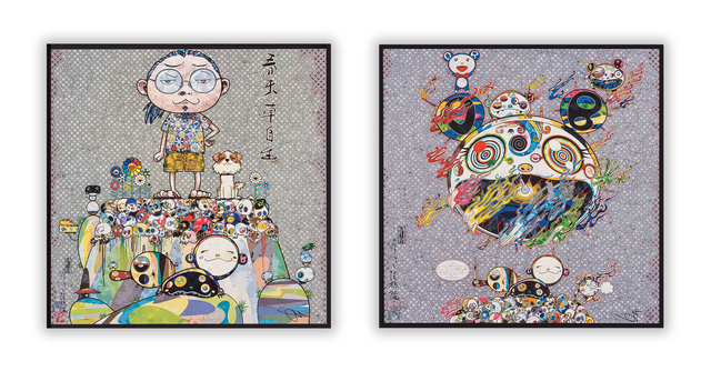 Takashi Murakami, 'With Eyes on the Reality of One Hundred Years from Now and Chaos (two works)', 2013, Heritage Auctions