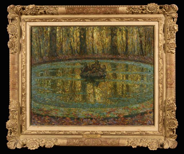 Henri Eugène Le Sidaner, 'Bassin, lentilles vertes', 1916, Trinity House Paintings