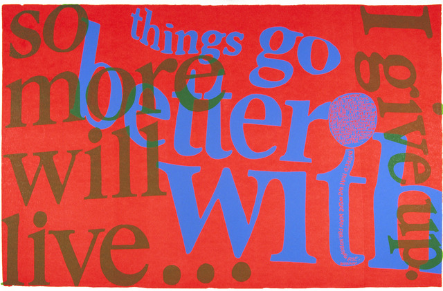 Sister Mary Corita Kent, 'things go better with,' 1967, Feuer/Mesler