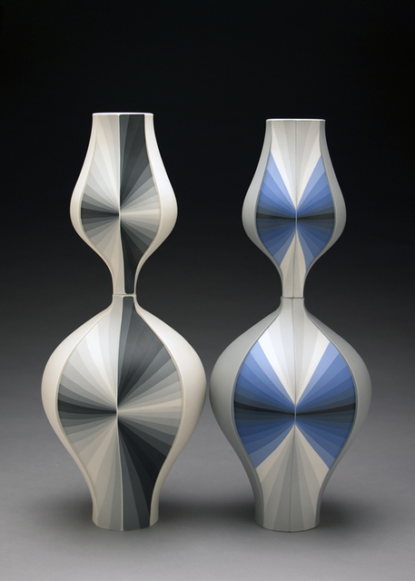 Peter Pincus, 'Grey Contrasting Gradient Vessels', 2018, Ferrin Contemporary