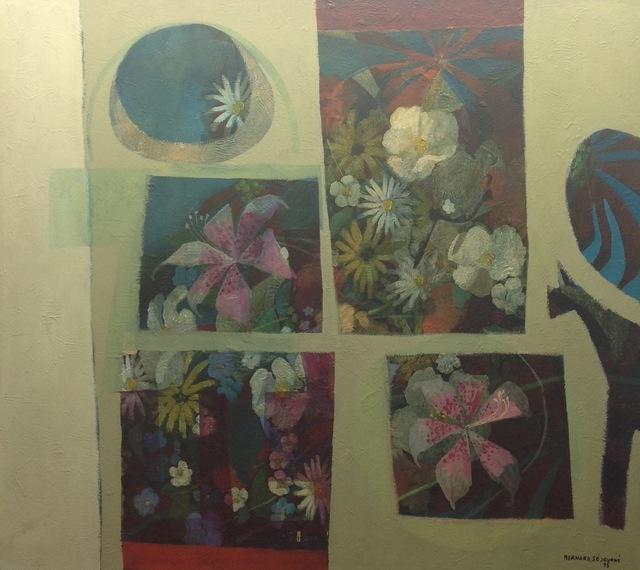 , 'Flowers,' 1975, Myriam Nader Haitian Art Gallery
