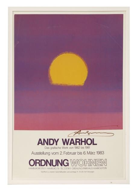 Andy Warhol, 'HANDSIGNED EXHIBITION POSTER 1983', 1983, Hidden