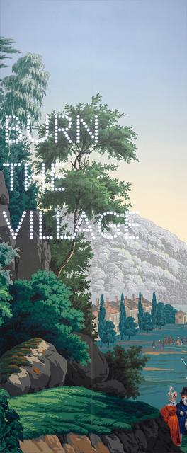 , 'Burn The Village,' 2019, Parafin