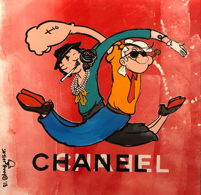 Skyler Grey, 'Olive Oyl Coco x Popeye Karl Lagerfeld Chanel Twist in Red', 2018, Avant Gallery