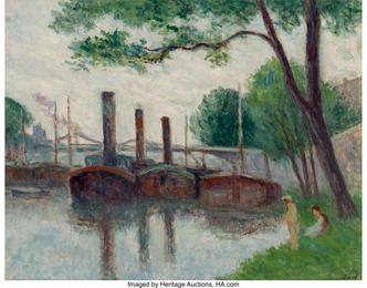 Les bords de la Seine près de la Roche-Guyon