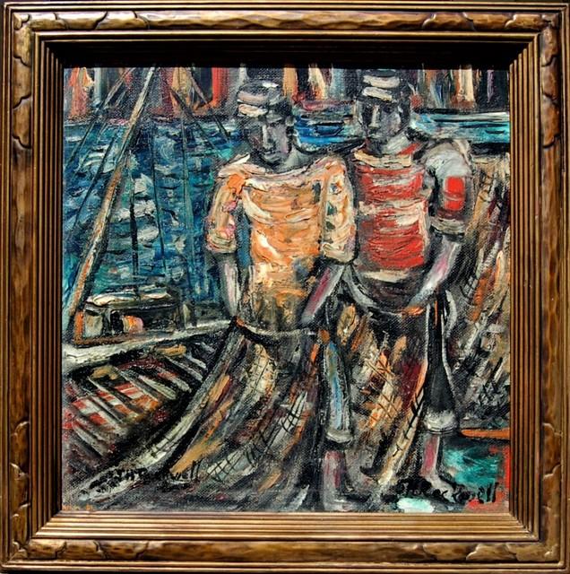 "John Rockwell, '""The Fishermen"" ', 1950, Joseph Grossman Fine Art Gallery"