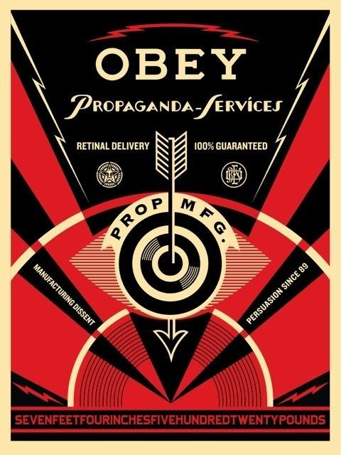 Shepard Fairey (OBEY), 'Propaganda Eye Services', 2014, Art for ACLU Benefit Auction