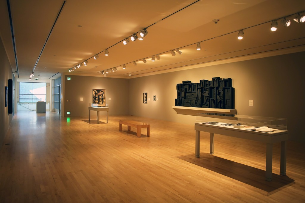 Installation shot of Louise Nevelson: The Fourth Dimension.