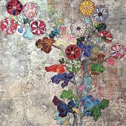 Takashi Murakami, 'Korin: Flowers of Resurrection', 2016, Print, Offset lithograph, Vogtle Contemporary