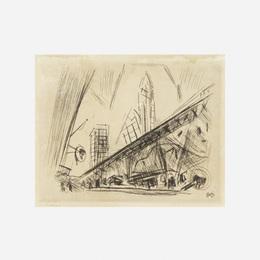 John Marin, 'Downtown New York, the El,' 1921, Wright: Art + Design (February 2017)