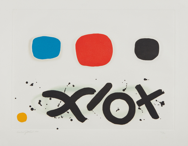 Adolph Gottlieb, 'Imaginary Landscape', 1971, Print, Aquatint in colors, on Fabriano paper, with full margins, Phillips