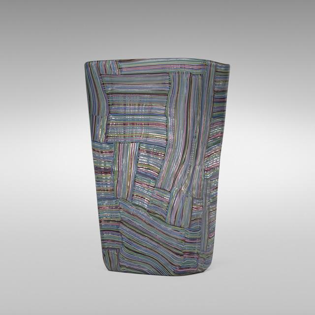 Paolo Venini, 'Rare Mosaico Tessuto vase, model 3850', 1954, Wright