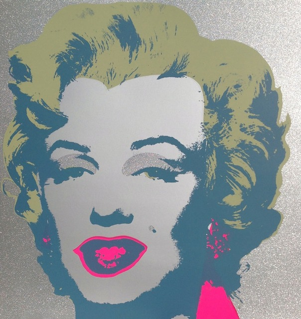 (after) Andy Warhol, 'Diamond Dust Marilyn', 1967 printed later, Reproduction, Silkscreen with diamond dust on Museum Board, Pinto Gallery