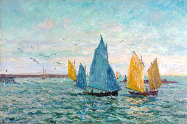 , 'Return of the Shrimp-Fishing Boats, Le Croisic,' 1906, R. S. Johnson Fine Art