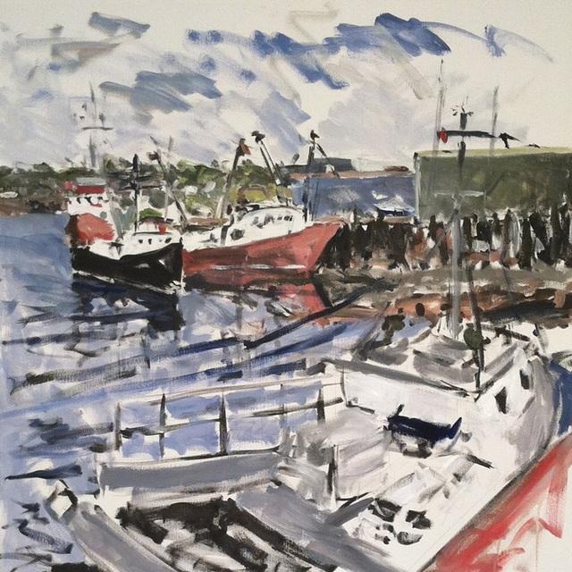 Brett Wallace, 'Study for Gloucester Harbor', 2013, JCO's Art Haus