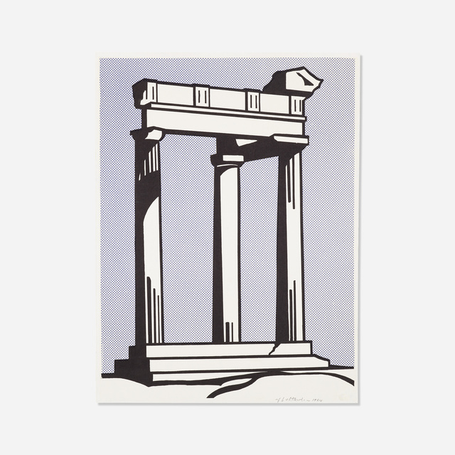 Roy Lichtenstein, 'Temple', 1964, Print, Offset lithograph in colors, Rago/Wright