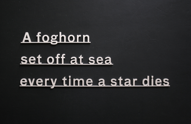 , 'Ideas - (A foghorn set off at sea every time a star dies),' 2017, Ingleby Gallery