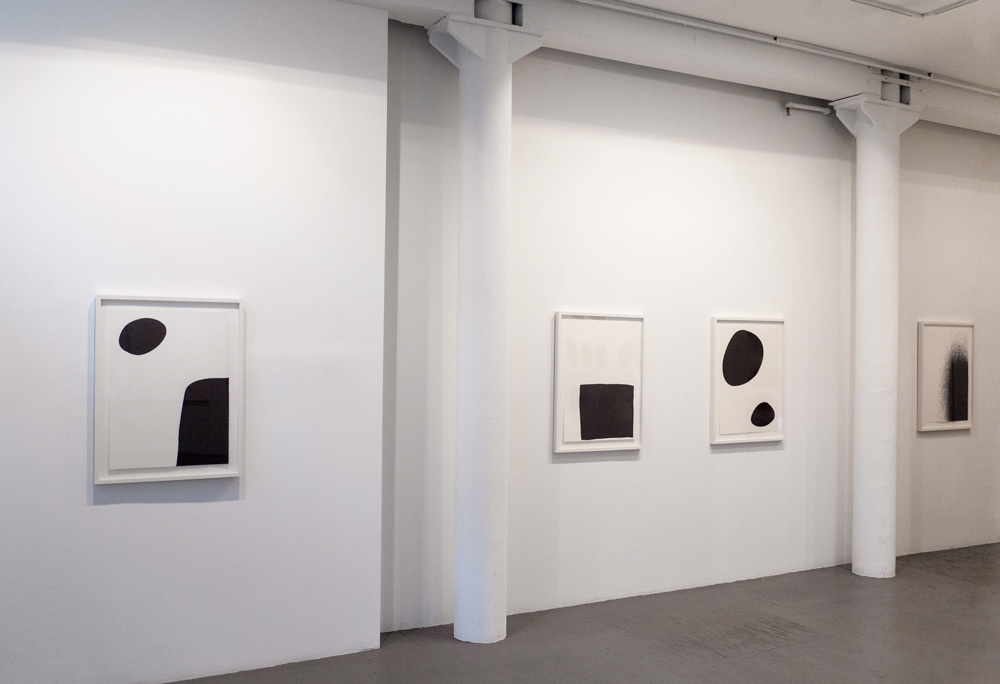 Installation view of four works by IL LEE at Art Projects International, New York.