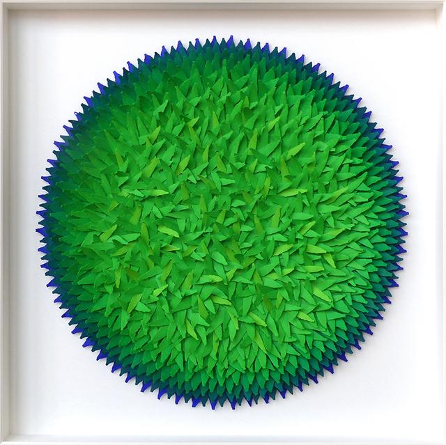 , 'Blätterbild Blau und Grüntöne,' 2016, Artima