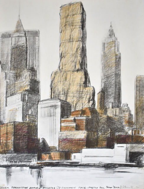 , ' Lower Manhattan Packed Building, 20 Exchange Place, Project for New York,' 1973, Gilden's Art Gallery