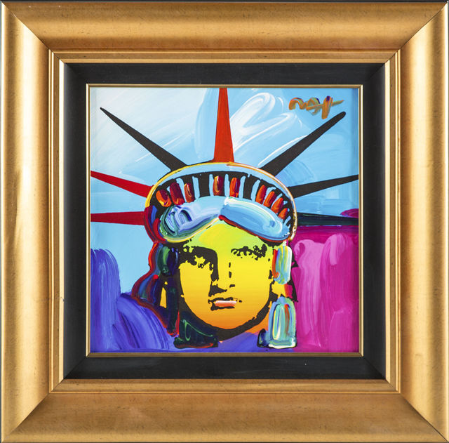 Peter Max, 'Peter Max Original Acrylic Painting on Canvas 1/1 Liberty 25k+ Gallery Retail', 2013, Modern Artifact