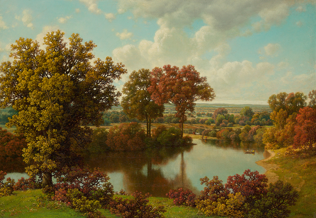 , 'Autumn Reflections,' , Questroyal Fine Art