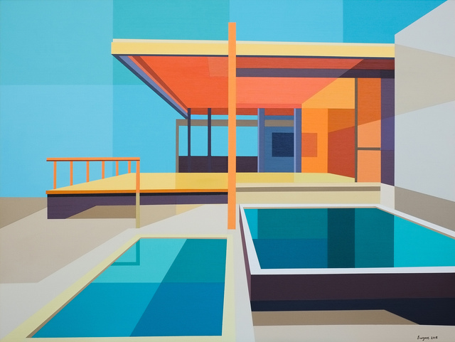 ", '""Re-Imagined Neutra III - Chuey House"",' 2018, Bonner David Galleries"