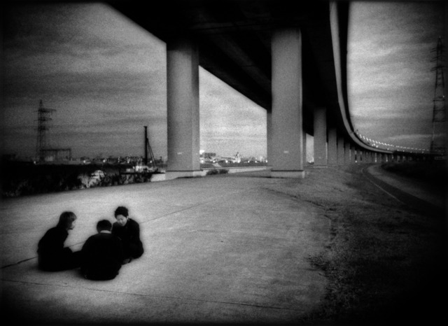 , 'Conspiratorial schoolboys underneath expressway, ShinKoiwa, Tokyo, Japan,' 2007, Sous Les Etoiles Gallery