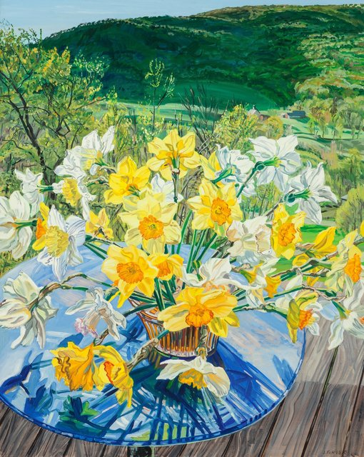 Janet Fish, 'Daffodils and Spring Trees', 1988, Heritage Auctions
