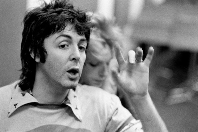 , 'Paul and Linda McCartney, Recording Studio, London,' 1974, ElliottHalls