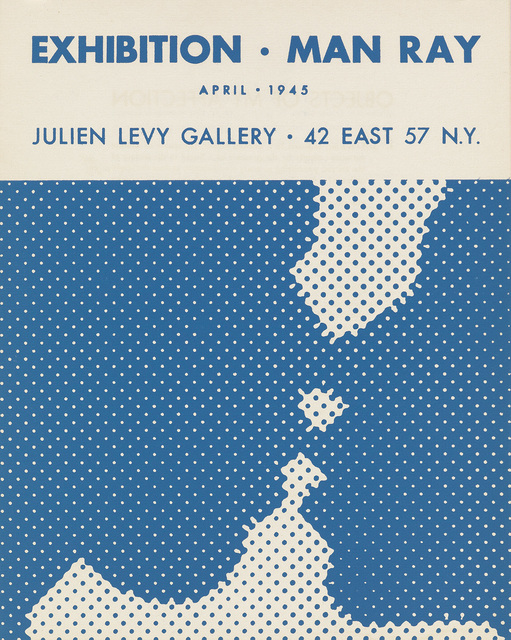 Marcel Duchamp, 'EXHIBITION • MAN RAY / APRIL • 1945 / JULIEN LEVY GALLERY JULIEN LEVY GALLERY • 42 EAST 57 N.Y.  ', 1945, Stubbs Fine Art
