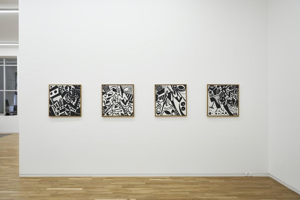 A. R. Penck, Transformer, installation view, Jahn und Jahn, 2018 © A. R. Penck, VG Bild-Kunst, Bonn
