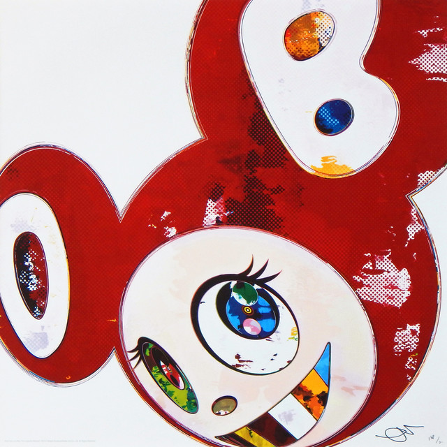 Takashi Murakami, 'And Then x 6 (Red: The Polke Method) ', 2013, Lougher Contemporary