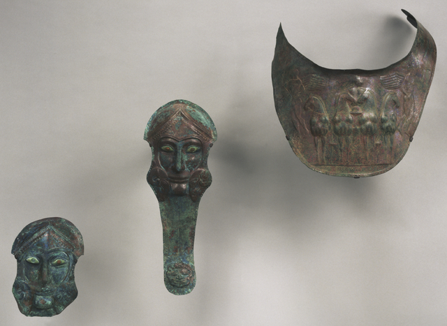 'Group of Armor for Horses: Prometodpidia (2) and Breastplates (2)', ca. 480 BCE, J. Paul Getty Museum