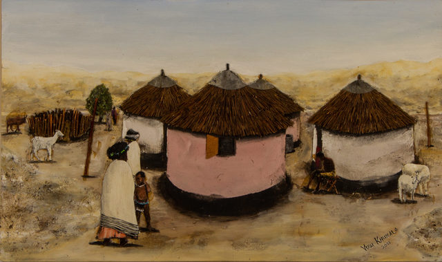 Vusi Khumalo, 'Huts and Kraal', Capsule Gallery Auction