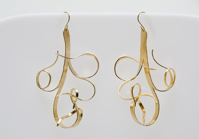 ", 'Gold Plated Earrings by Jacques Jarrige ""Fiori"",' 2016, Valerie Goodman Gallery"