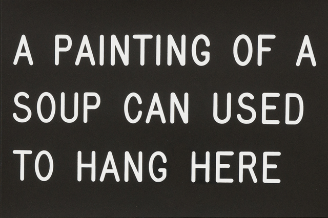 William Anastasi, 'A Painting of a Soup Can Used to Hang Here (229/250)', 1991, Print, Silkscreen, Bentley Gallery