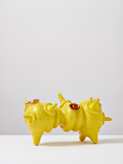 Michael Geertsen, 'Yellow Crawling Object with Gold,' 2013, Jason Jacques Inc.