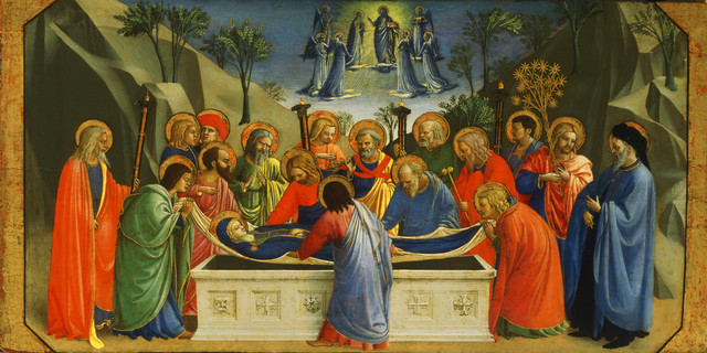 , 'Burial of the Virgin,' about 1425, Isabella Stewart Gardner Museum