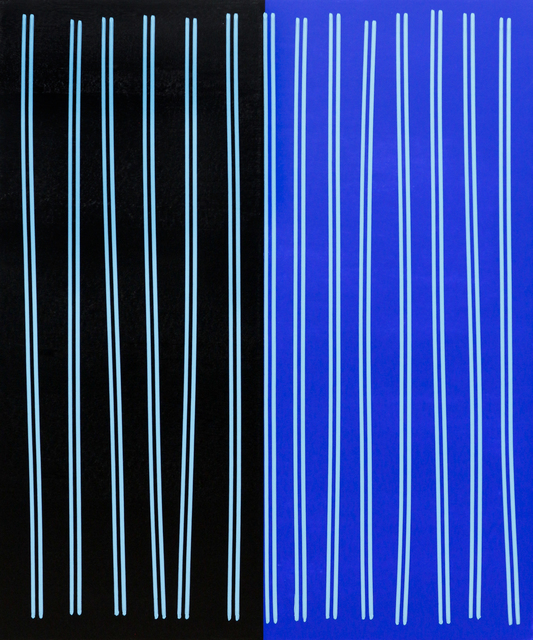 , 'Simple Line Set (Blk/Cobalt Blu),' 2014, Newzones