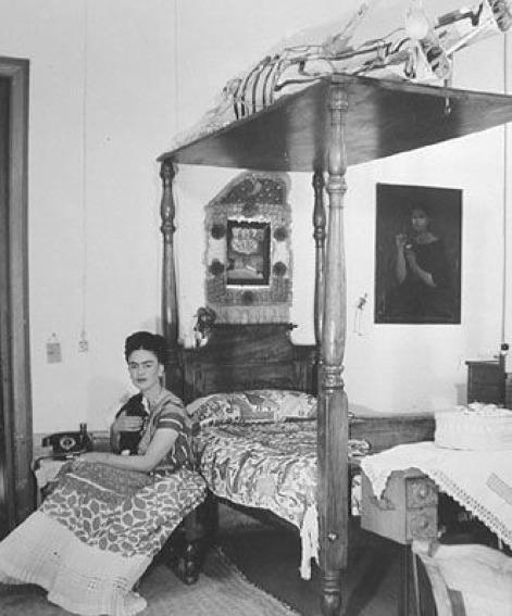 , 'Frida Kahlo In Her Bedroom,' 1940, Matthew Liu Fine Arts