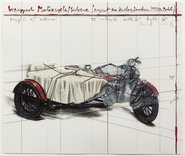 Christo and Jeanne-Claude, 'Wrapped Motorcycle, Project for Harley Davidson', 1997, Hindman