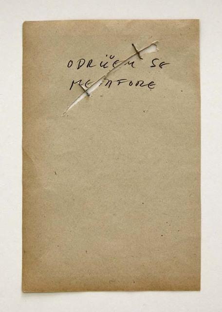 , 'Odricem se metafore (Ich Entsage der Metapher/ I Renounce the Metaphor),' 1978, Aanant & Zoo