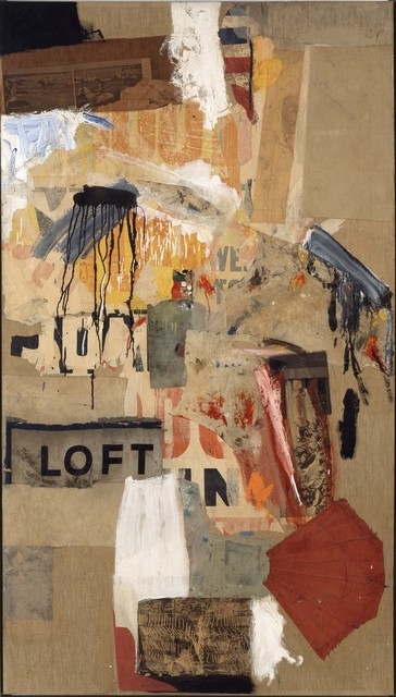 Robert Rauschenberg, 'Double Feature', 1959, Mixed Media, Combine: oil, paper, printed paper, printed reproductions, and fabric on canvas, Robert Rauschenberg Foundation