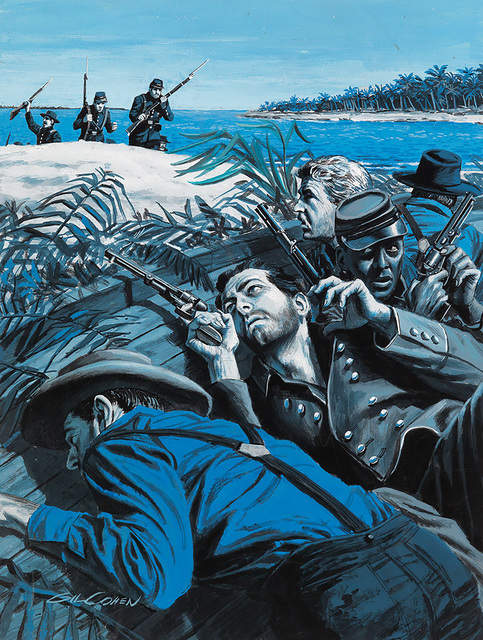 Gil Cohen, 'Confederates on the Shore. Story Illustration for Male Magazine', ca. 1950, The Illustrated Gallery