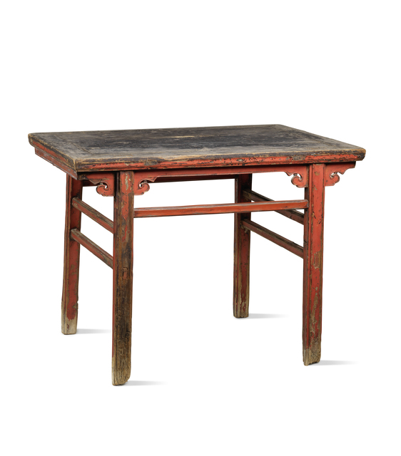 , 'A red lacquered softwood rectangular table,' Japan: Shanxi province-17th century, Rasti Chinese Art