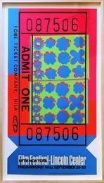 Lincoln Center Ticket - opaque acrylic signed edition (Feldman & Schellmann, II.19)
