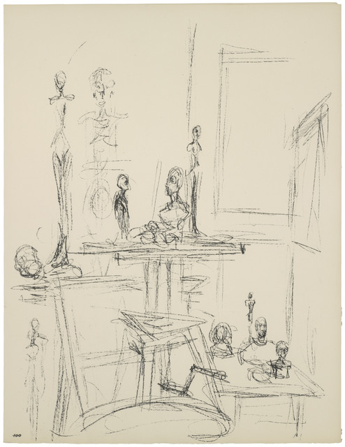 , '[Sculptures in the Studio IX] Paris sans fin, plate 100, before 1965,' 1969, Yuz Museum