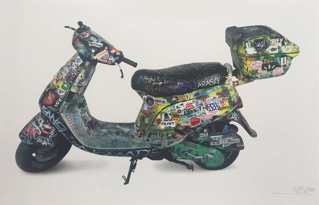 "Invader, 'SPACE INVADER ""SCOOTER"" SIGNED & NUMBERED BY ARTIST', 2015, Arts Limited"