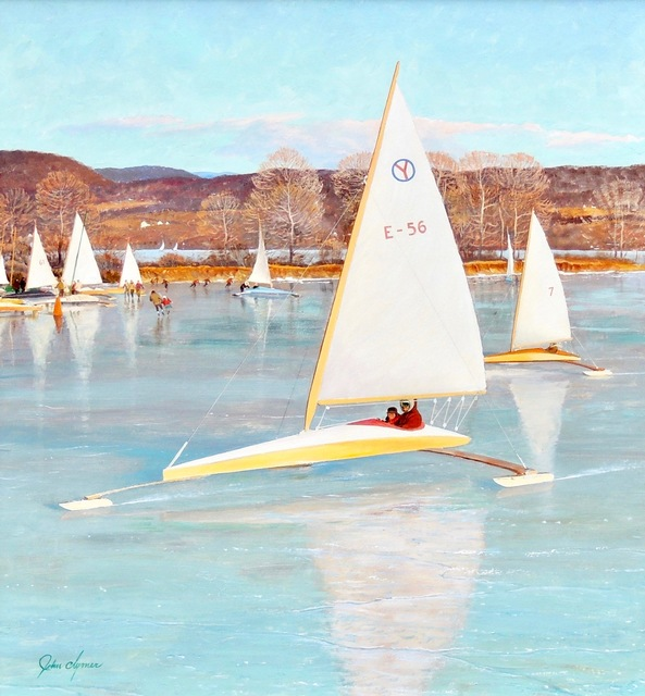 John Clymer, 'Ice Boating, Saturday Evening Post Cover, November 28, 1959', 1959, The Illustrated Gallery